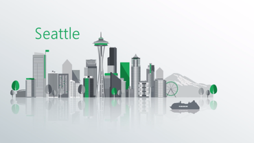 Animated version of the Seattle skyline created by VMG Studios