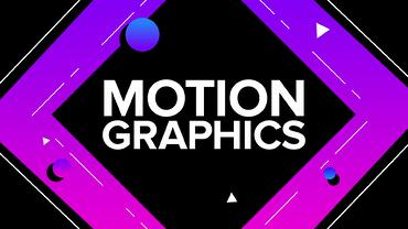 Motion graphics designed asset for article discussing motion graphics vs. animation
